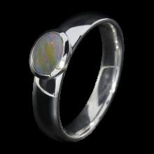 Opalring mit Boulderopal, 925er Silber, Ringgröße 57
