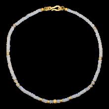 Kette mit märchenhaften Edelopalen, 925er Silber, vergoldet