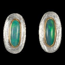 Ohrstecker mit ovalen, eleganten, Himmelblauen Edelopalen, 925er Silber