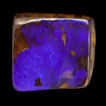 Viereckiger Gebohrter Boulder Opal