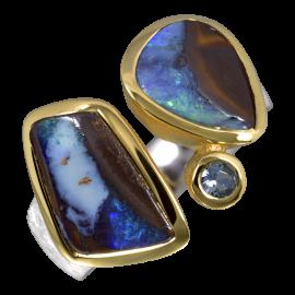 Opalring_Ring_Silber_Vergoldet_Kombi_Boulderopale_Aquamarin_19071768