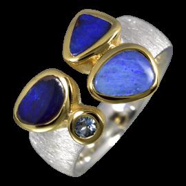 Opalring_Ring_Silber_Vergoldet_Kombi_Boulderopale_Aquamarin_19071771